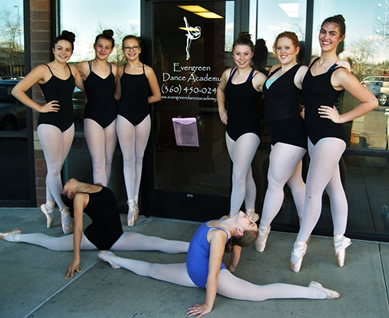 Evergreen Dance Academy in Vancouver, WA offering Creative Dance, Ballet, Lyrical, Jazz, Hip Hop and Tap Dance